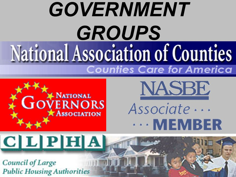 GOVERNMENT GROUPS