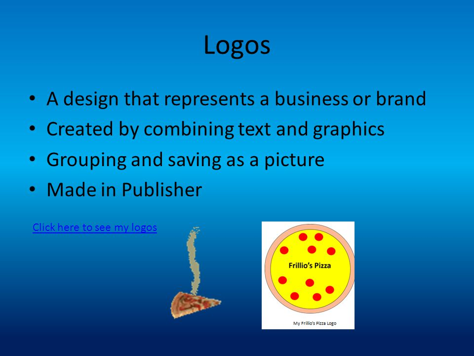 Introduction I was just hired by Frillio's Pizza My job is that of a Desktop Publisher I will be creating the documents that Mr. Frillio needs