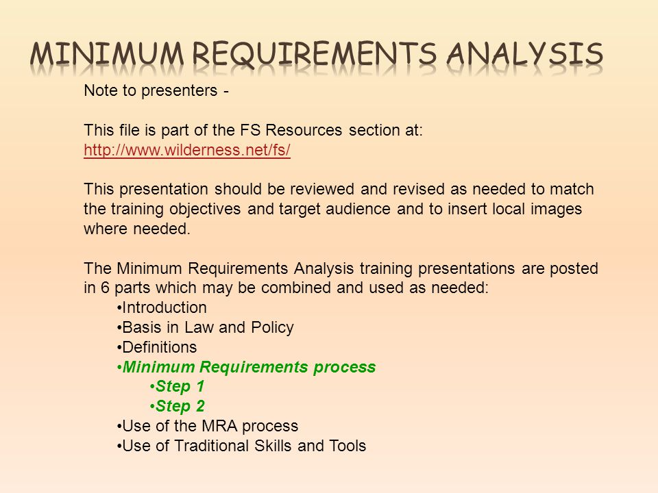 Note to presenters - This file is part of the FS Resources section at:     This presentation should be reviewed and revised as needed to match the training objectives and target audience and to insert local images where needed.