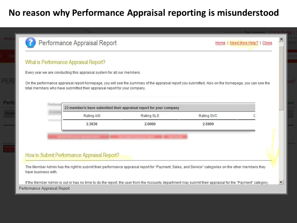 No reason why Performance Appraisal reporting is misunderstood
