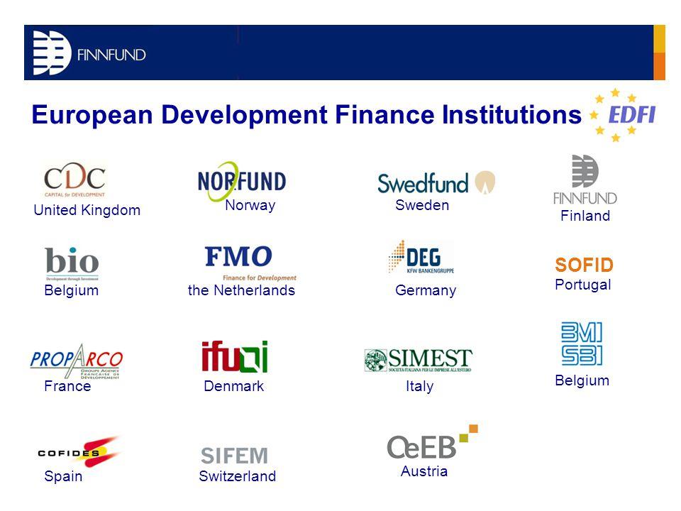 SOFID European Development Finance Institutions NorwaySweden the NetherlandsGermany ItalyDenmark Spain Belgium United Kingdom Belgium Portugal France