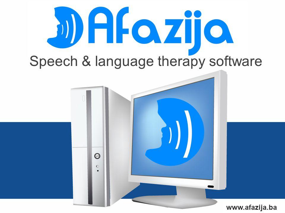 www.afazija.ba Speech & language therapy software