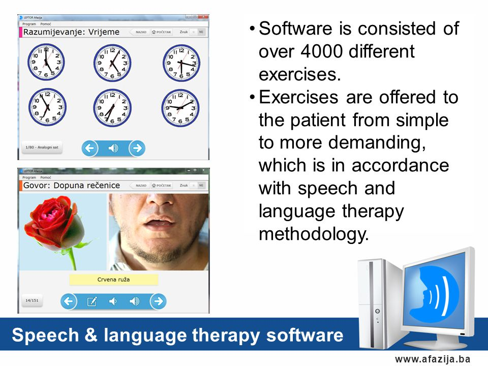 Software is consisted of over 4000 different exercises.