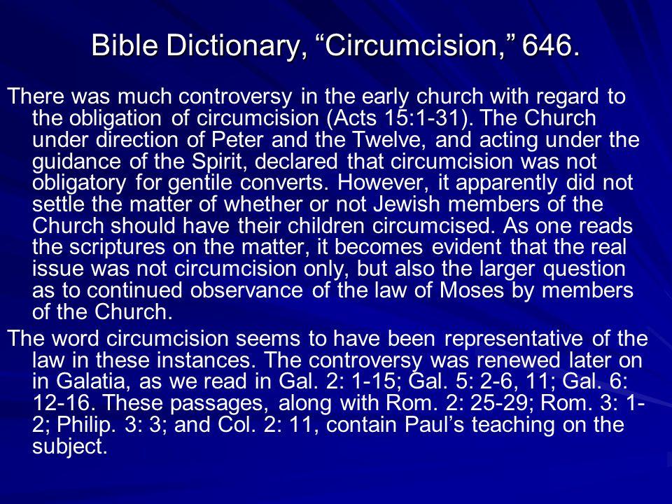 Bible Dictionary, Circumcision, 646.