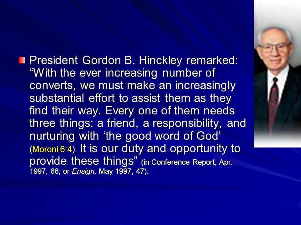 President Gordon B.