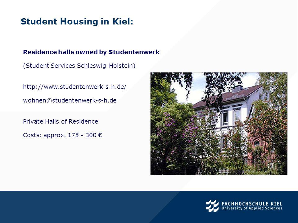 Student Housing in Kiel:.