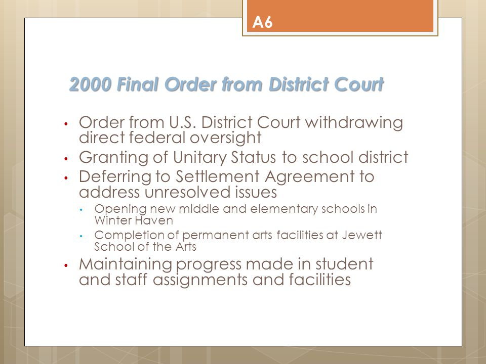 2000 Final Order from District Court 2000 Final Order from District Court Order from U.S.
