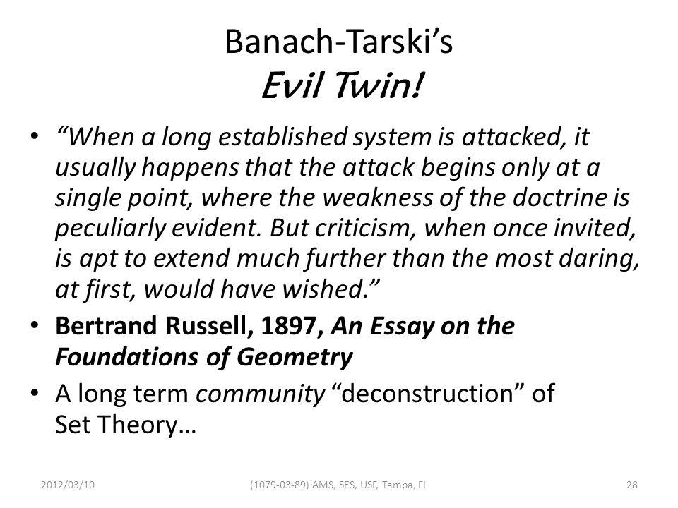 Banach-Tarski's Evil Twin.