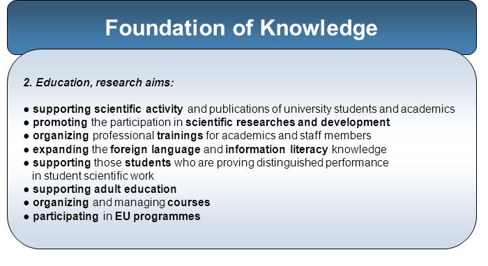 Foundation of Knowledge 2.
