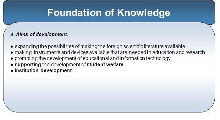 Foundation of Knowledge 4.