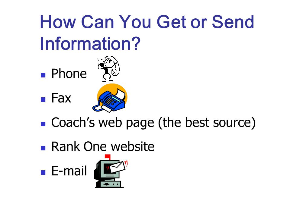 How Can You Get or Send Information.