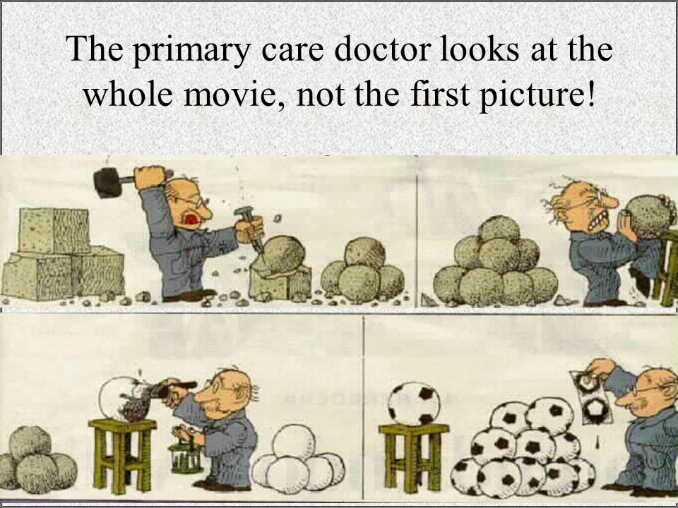 / 2614 The primary care doctor looks at the whole movie, not the first picture!