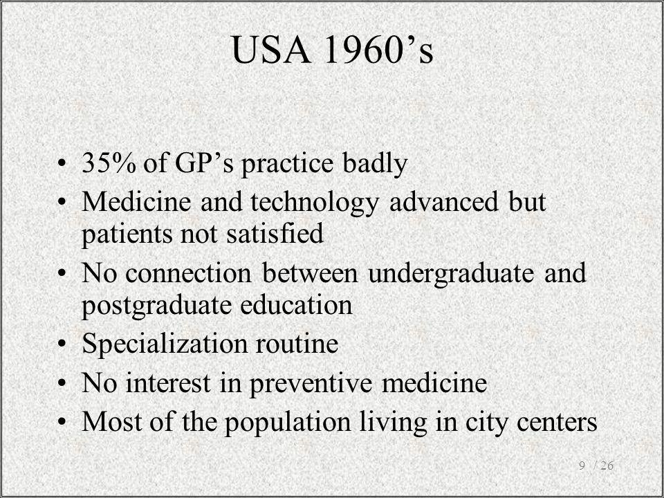 / 2610 Flexner's mistake Specialization = good doctors Generalism is bad