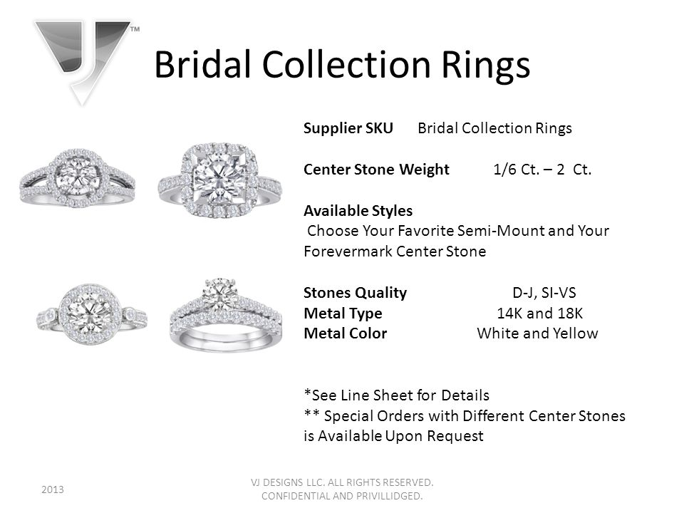 Bridal Collection Rings VJ DESIGNS LLC. ALL RIGHTS RESERVED.