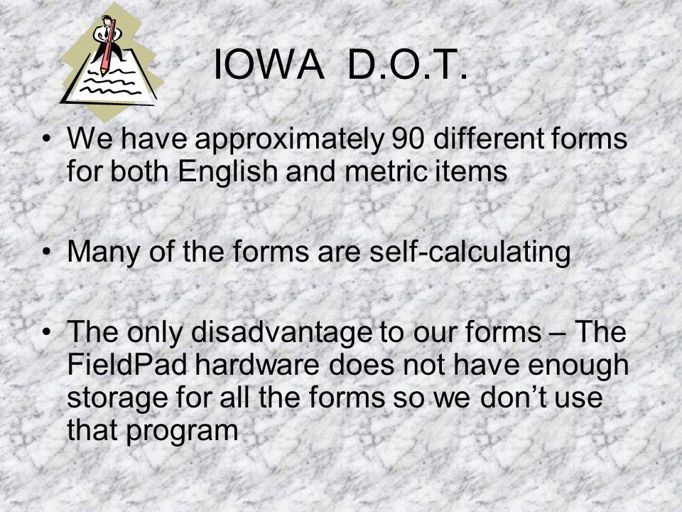 IOWA D.O.T.