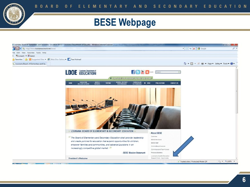 BESE Webpage 6