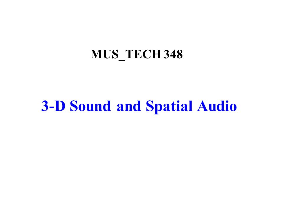 Multi-Loudspeaker Reproduction: Surround Sound