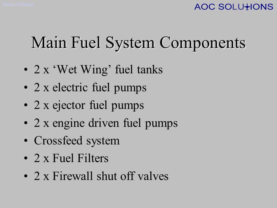 Return to Training Cessna C500 Fuel System