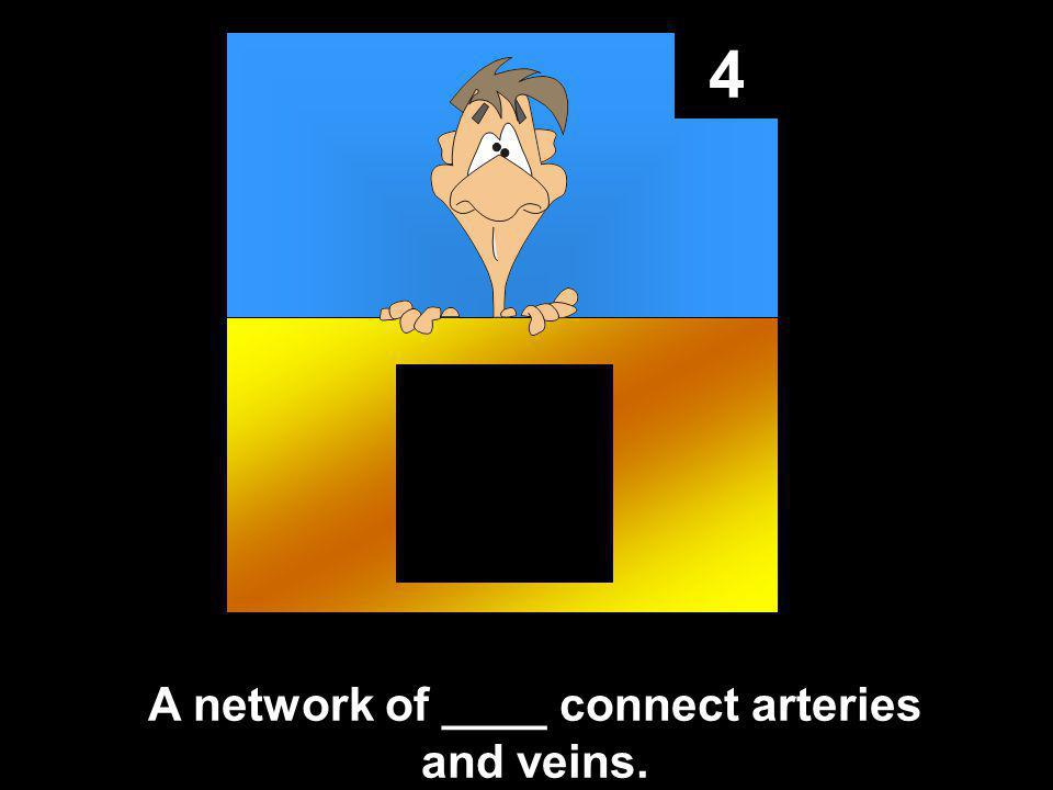 4 A network of ____ connect arteries and veins.
