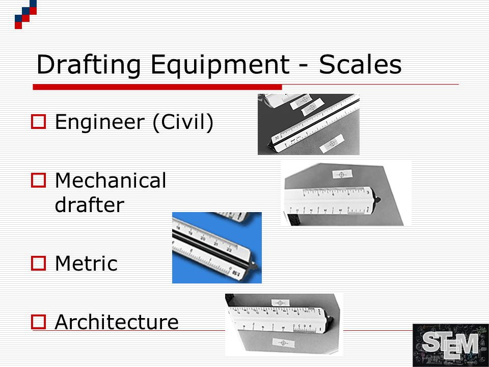 Drafting Equipment - Scales  Engineer (Civil)  Mechanical drafter  Metric  Architecture