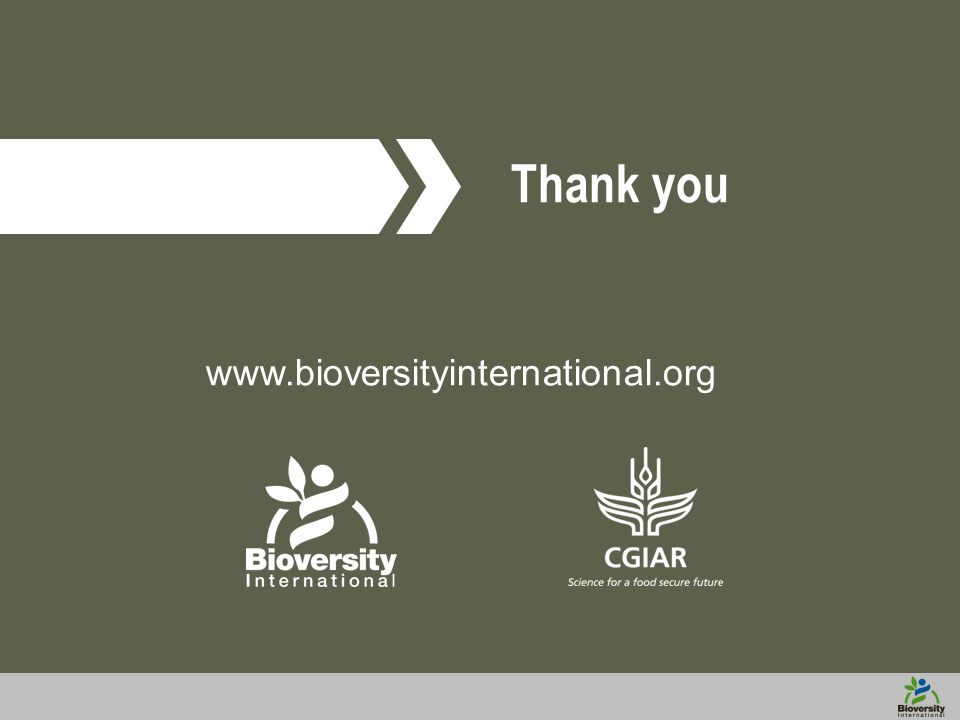 www.bioversityinternational.org Thank you