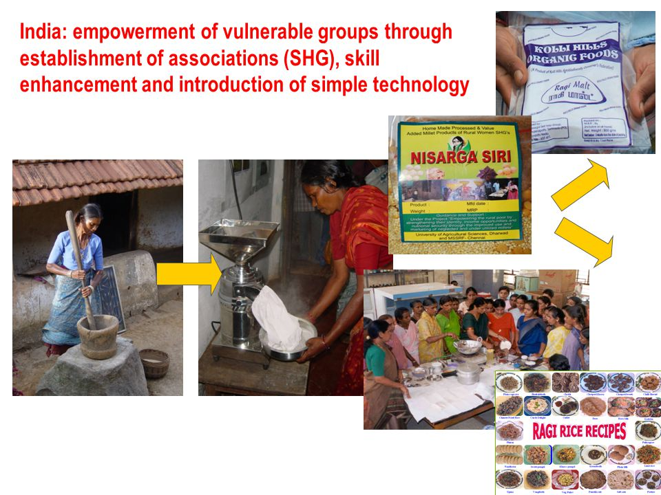 India: empowerment of vulnerable groups through establishment of associations (SHG), skill enhancement and introduction of simple technology