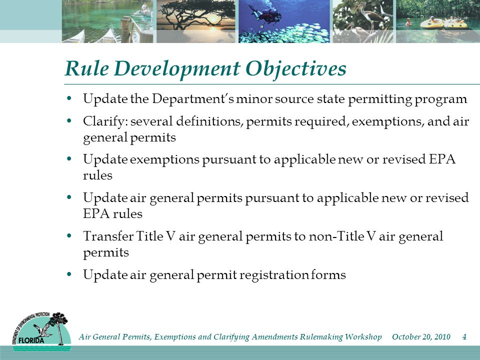 Paragraph 62-210.310(4) Air General Permits for Facilities Claiming Conditional Exemption from Title V Air Permitting (pg 25-28 of draft language) For all the source types under this subsection, the term unit- specific applicable requirement, which is now proposed to be applied to Title V sources only, is replaced with the proposed new term unit-specific limitation or requirement (bulk gasoline plants, reciprocating internal combustion engines, surface coating operations, reinforced polyester resin operations, cast polymer operations and printing operations).