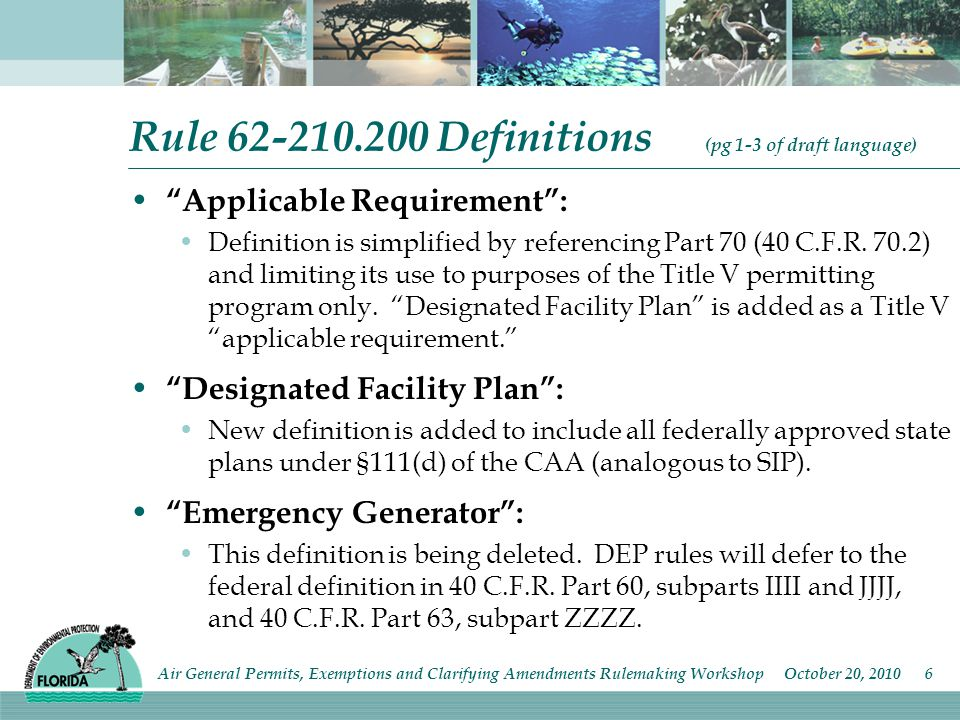 Rule 62-210.200 Definitions cont.