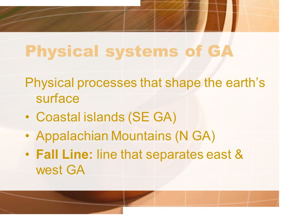 Human systems Where Georgians migrated and settled Atlanta – capital Twiggs County – geographic center Port of Savannah – first major settlement Brasstown Bald – highest geographic point
