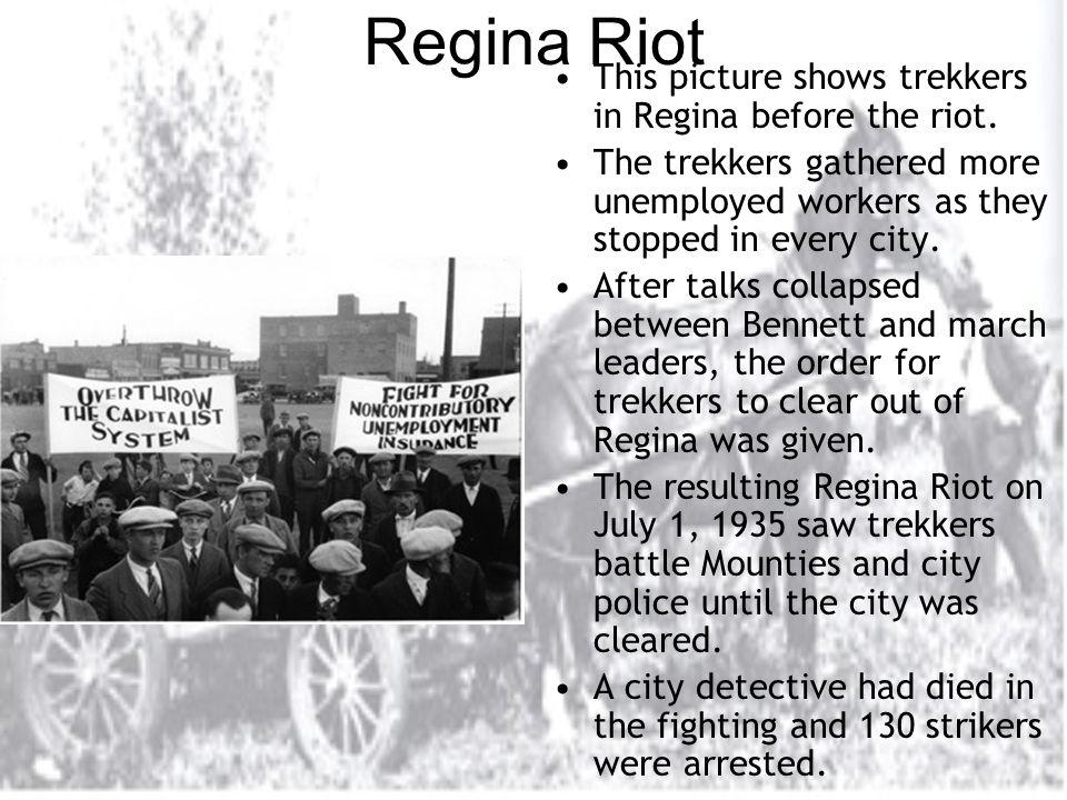 Regina Riot This picture shows trekkers in Regina before the riot.