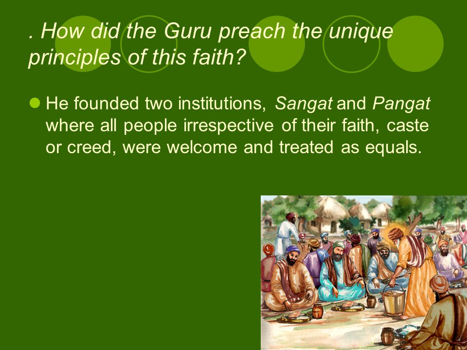 However, disregarding this philosophy, today Sikhs are themselves divided into different sects and groups, each considering itself to be superior to t