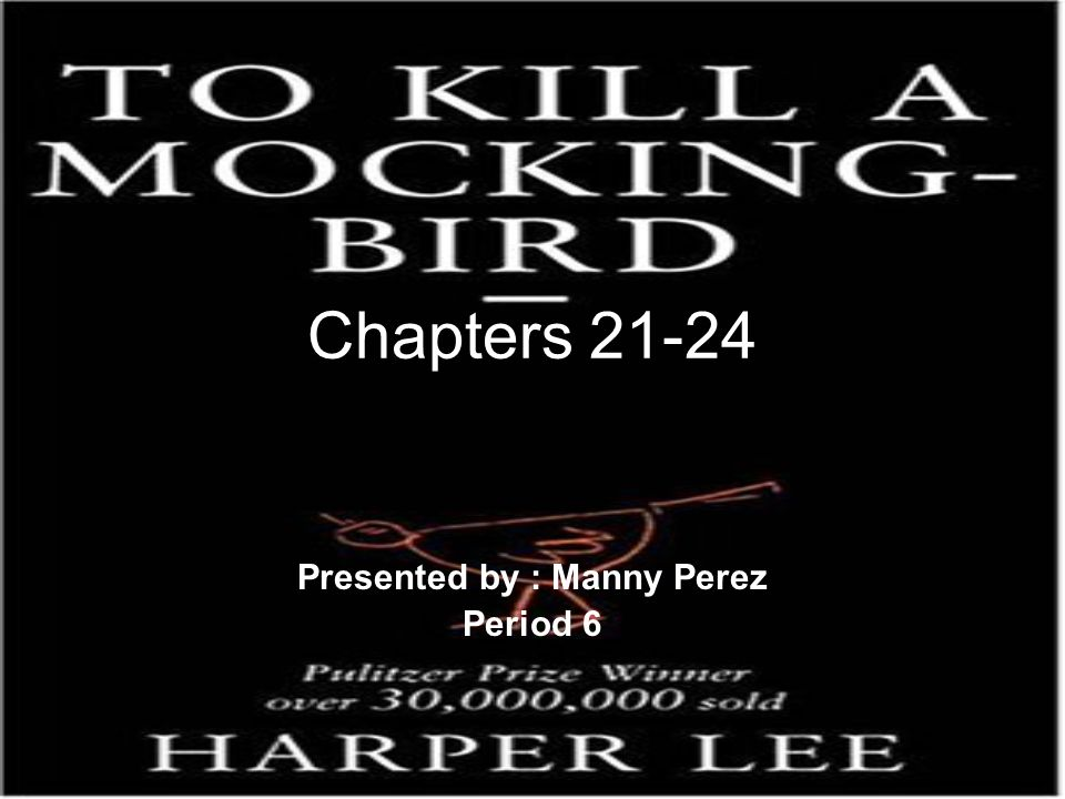 Chapters 21-24 Presented by : Manny Perez Period 6