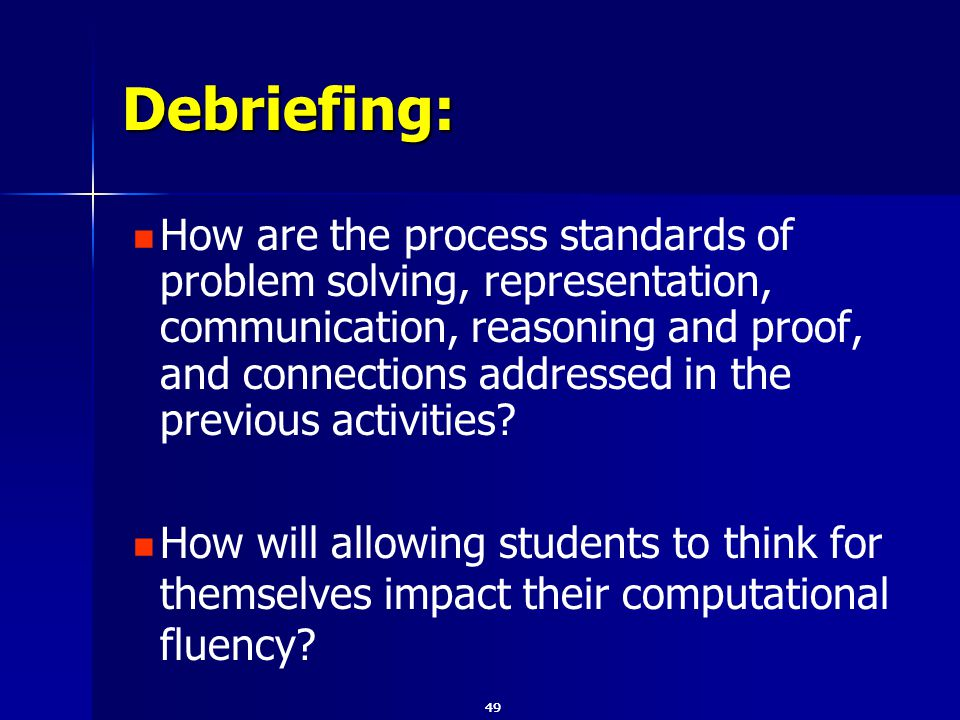 How are the process standards of problem solving, representation, communication, reasoning and proof, and connections addressed in the previous activities.