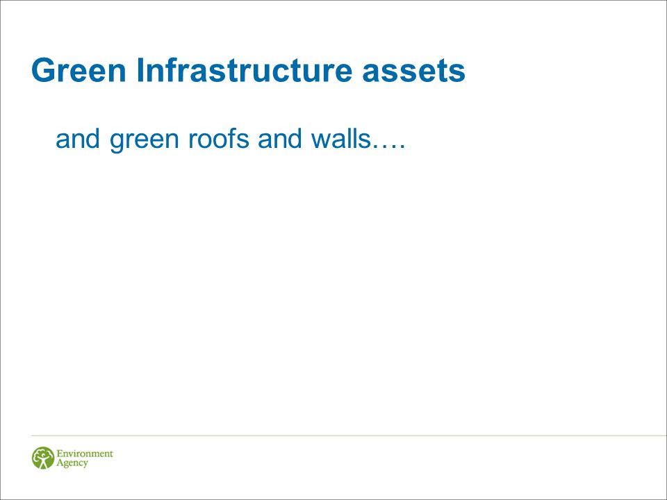 Green Infrastructure assets and green roofs and walls….