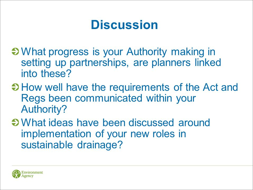 Discussion What progress is your Authority making in setting up partnerships, are planners linked into these.