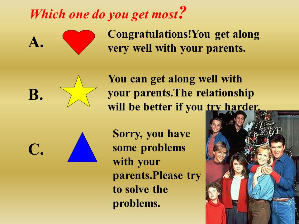 Do you love your parents? Do you sometimes quarrel with your parents?