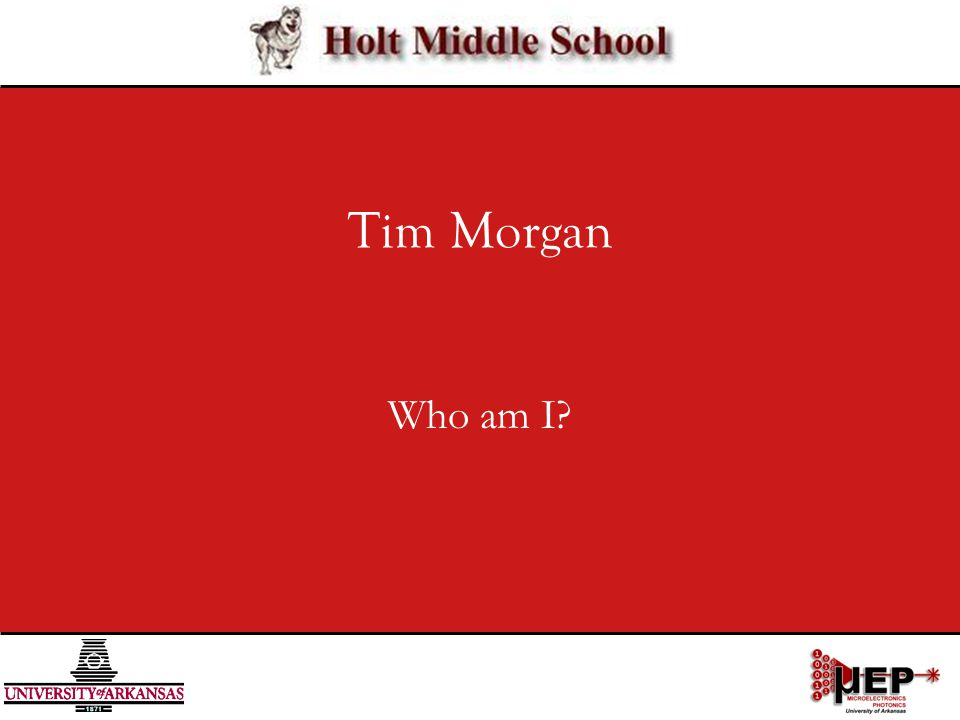 Tim Morgan Who am I