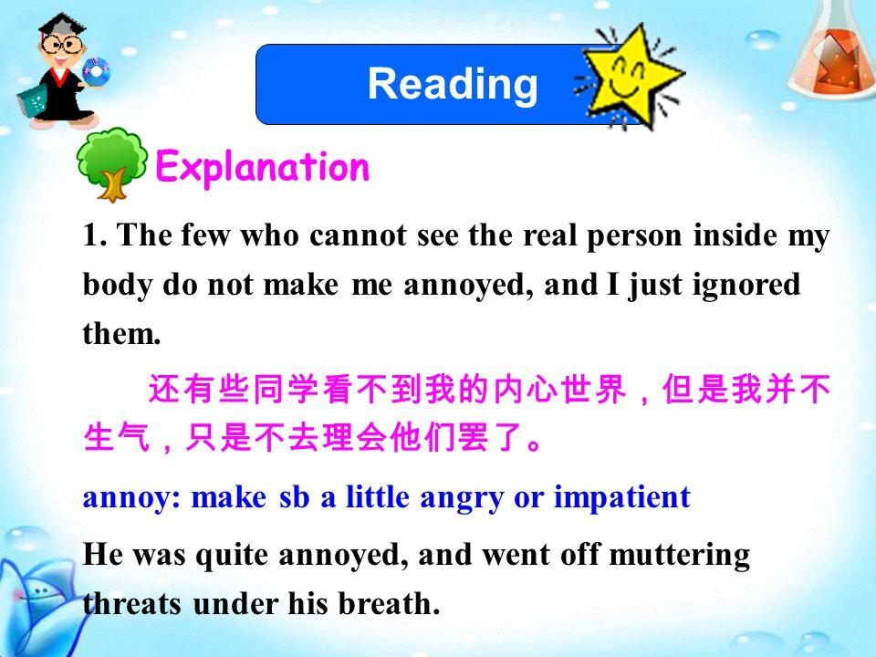 Reading Explanation 1.