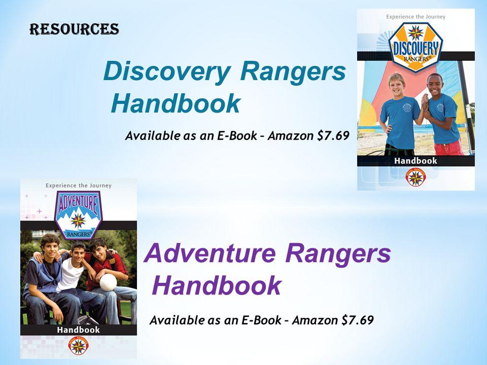 RESOURCES Adventure Rangers Handbook Discovery Rangers Handbook