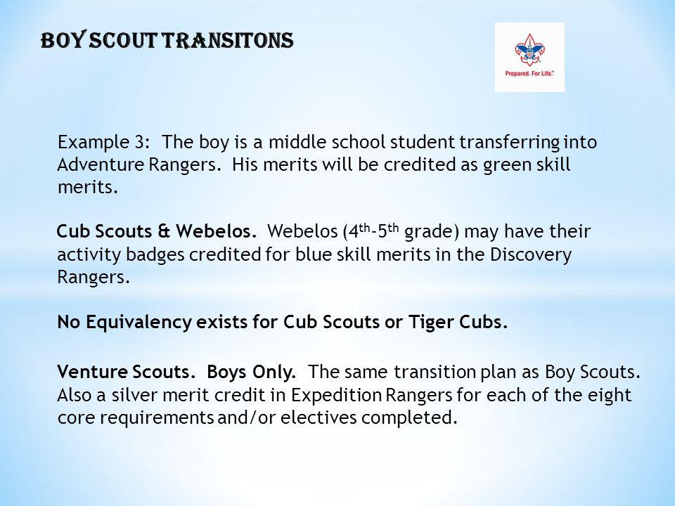 BOY SCOUT TRANSITONS Cub Scouts & Webelos.