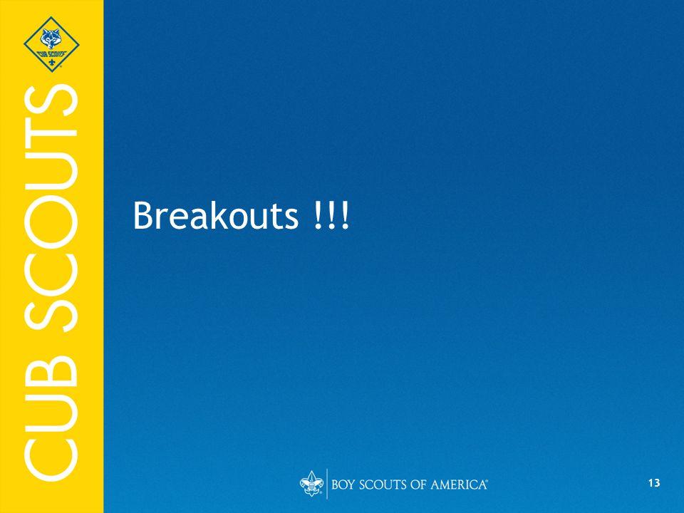 13 Breakouts !!!
