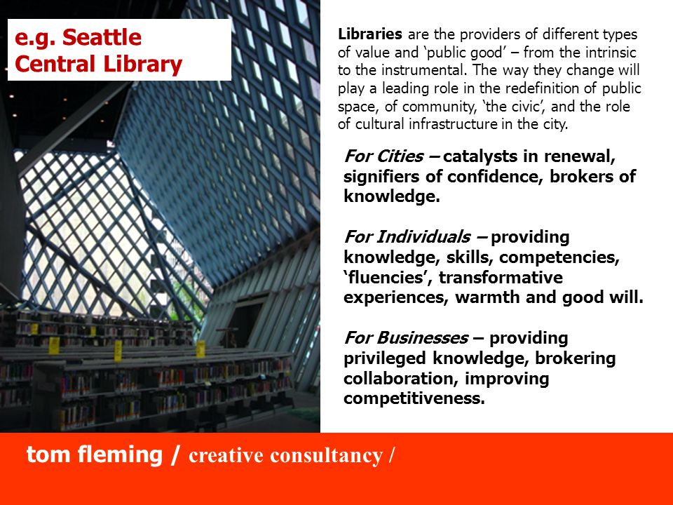 For Cities – catalysts in renewal, signifiers of confidence, brokers of knowledge.