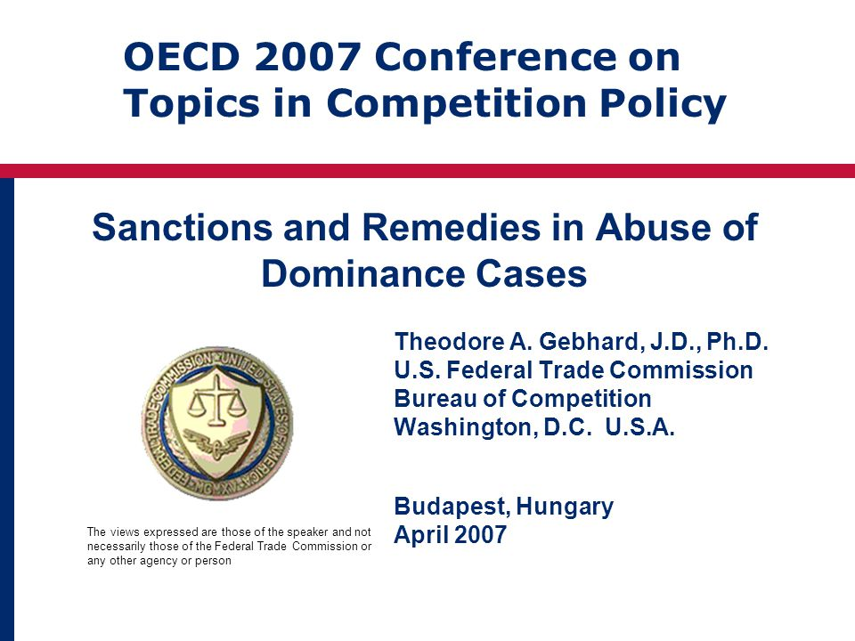 Sanctions and Remedies in Abuse of Dominance Cases Theodore A.