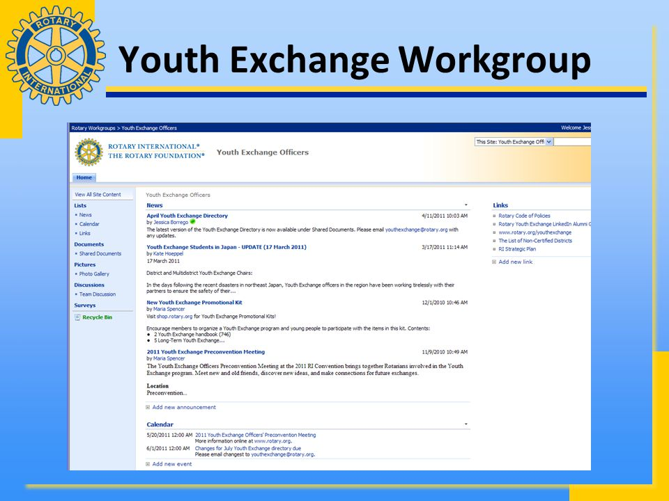 Youth Exchange Workgroup