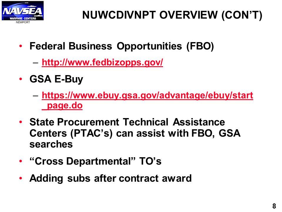 Federal Business Opportunities (FBO) –http://www.fedbizopps.gov/http://www.fedbizopps.gov/ GSA E-Buy –https://www.ebuy.gsa.gov/advantage/ebuy/start _p