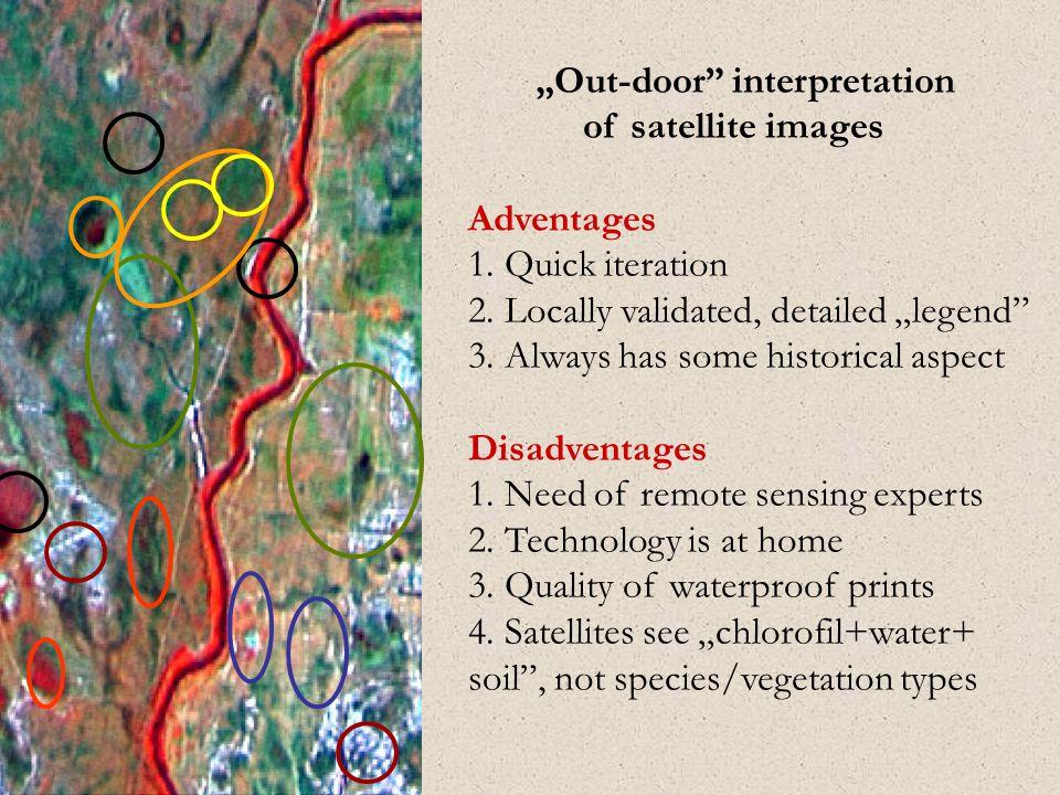 """Out-door interpretation of satellite images Adventages 1."
