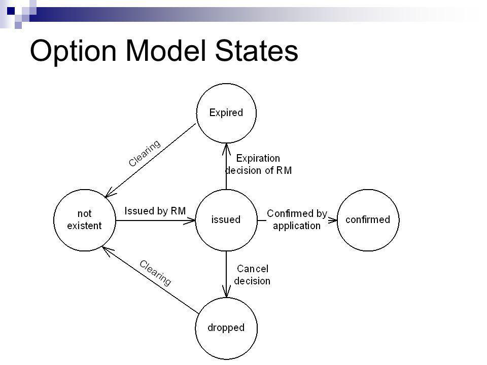 Option Model States