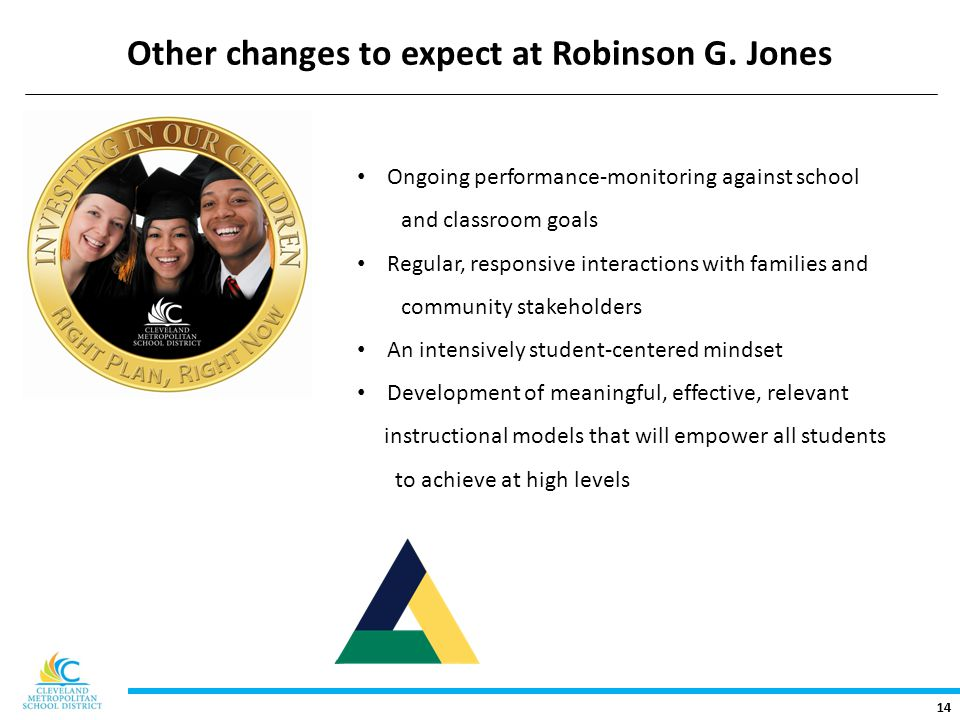 14 Other changes to expect at Robinson G.