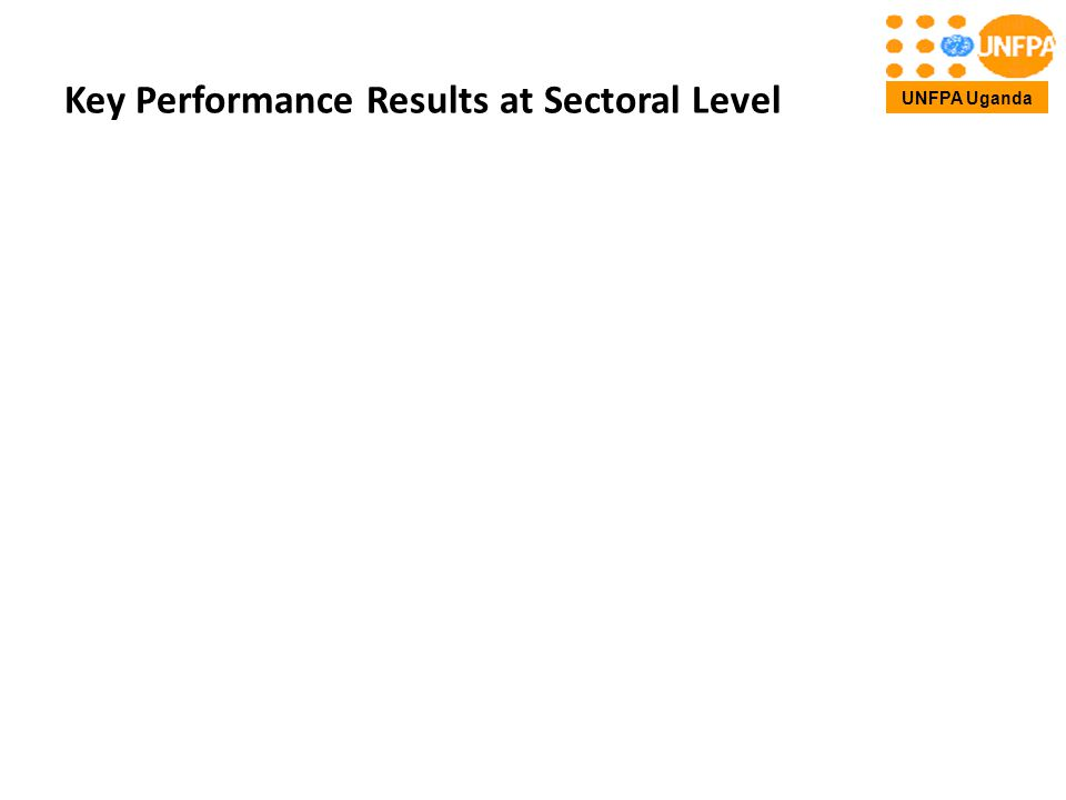 Key Performance Results at Sectoral Level UNFPA Uganda