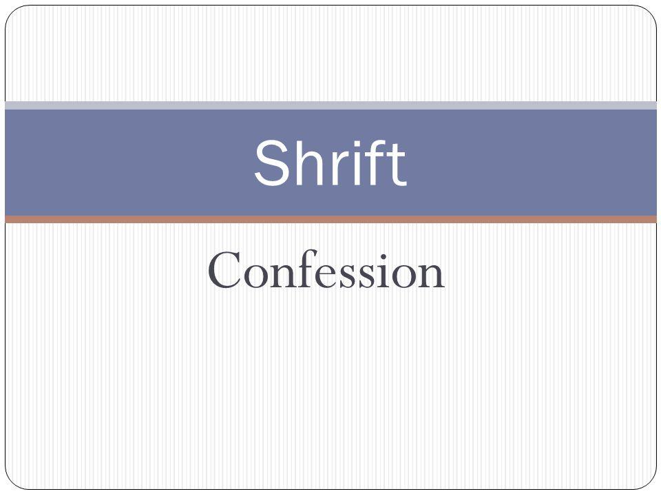 Confession Shrift